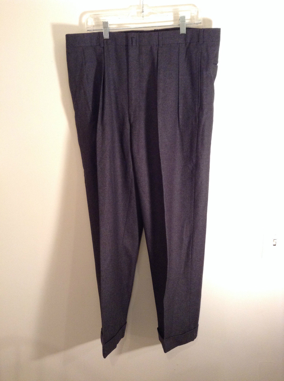 Gray Brooks Brothers Wool Pleated Front Dress Pants Waist 38 Inches