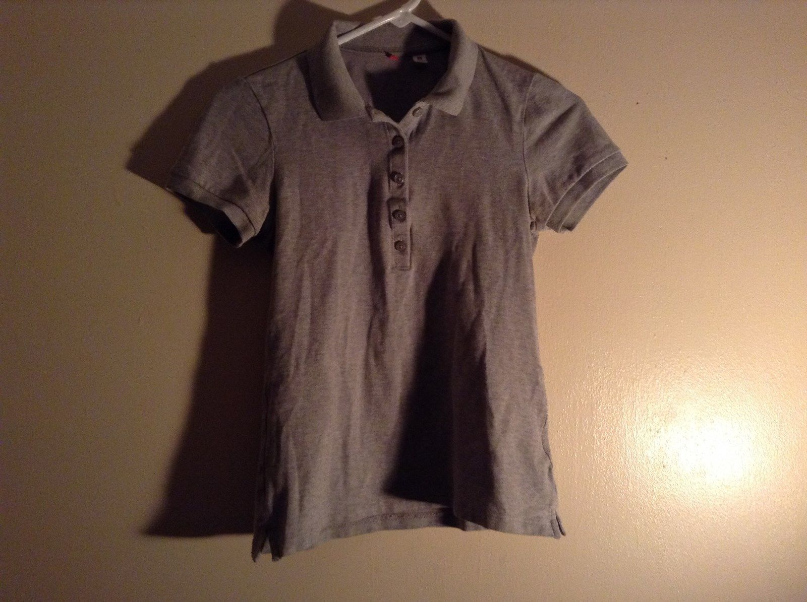 Gray Collared Short Sleeve Five Button Closure Polo Shirt Size XS  Uniqlo