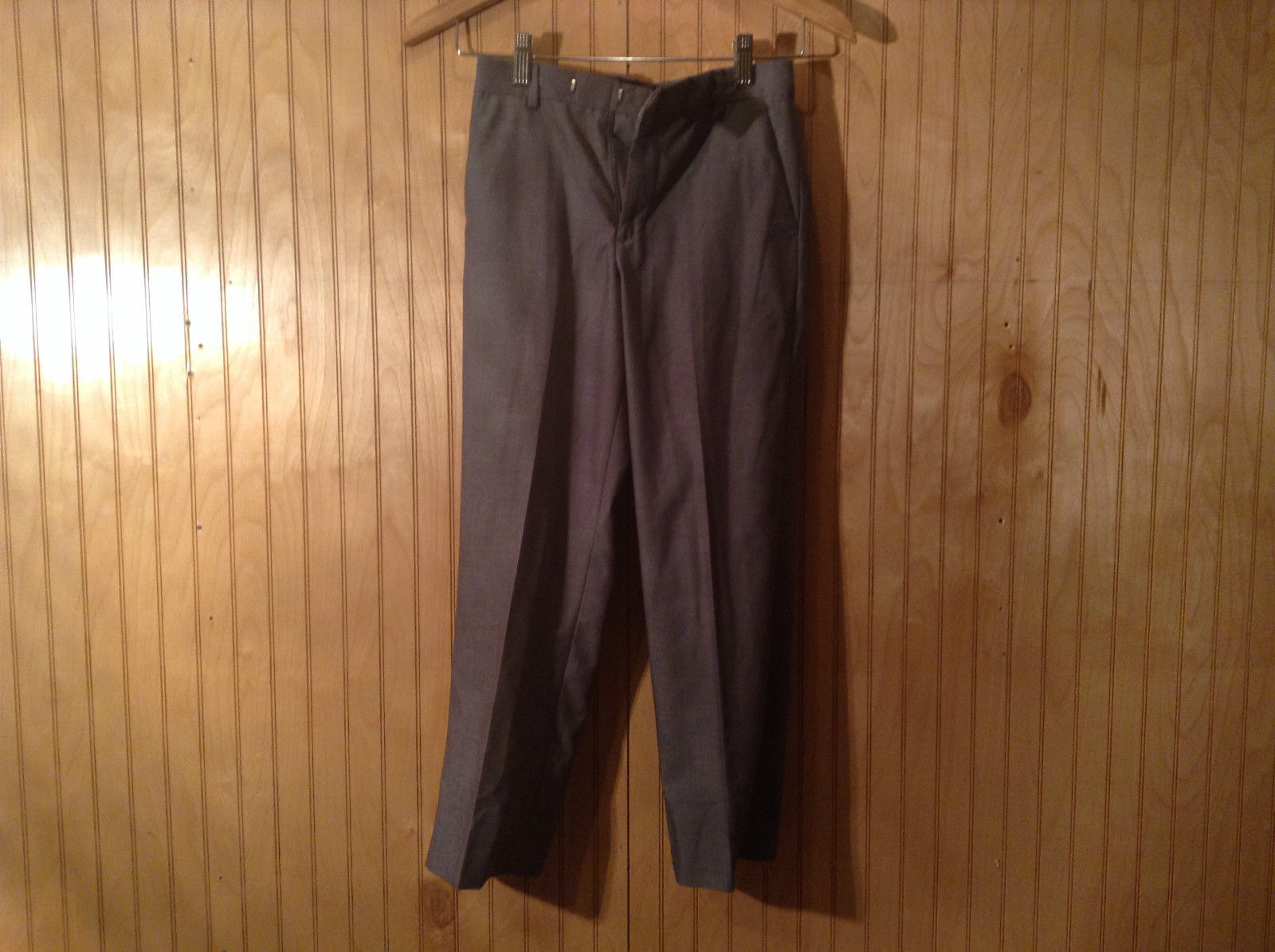 Gray Calvin Klein Pleated Front Dress Pants Size 10 Regular Front Back Pockets