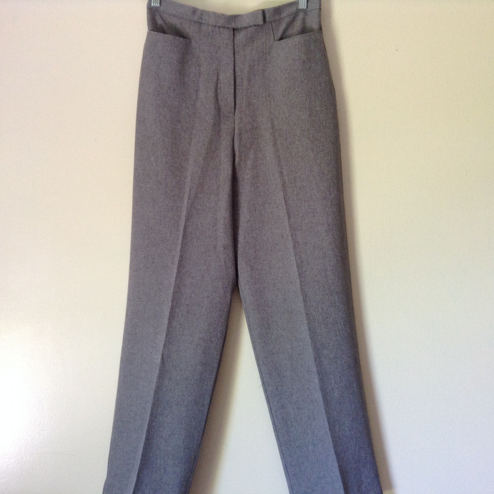 Gray Dress Pants by Levine Classics 100 Percent Polyester Size 8