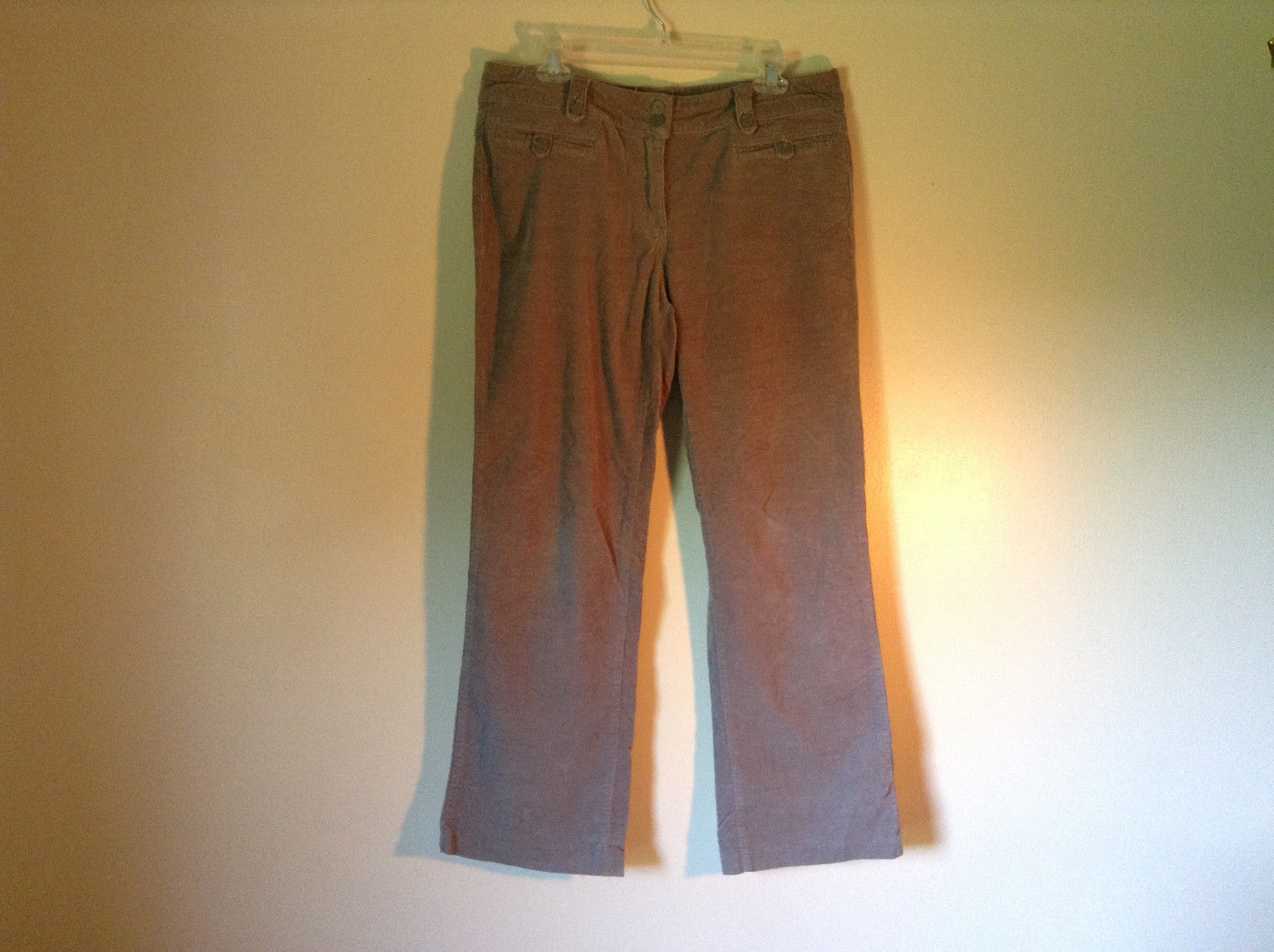 Gray Corduroy Pants O C Magic Size 12 Zipper Button Closure Front Back Pockets