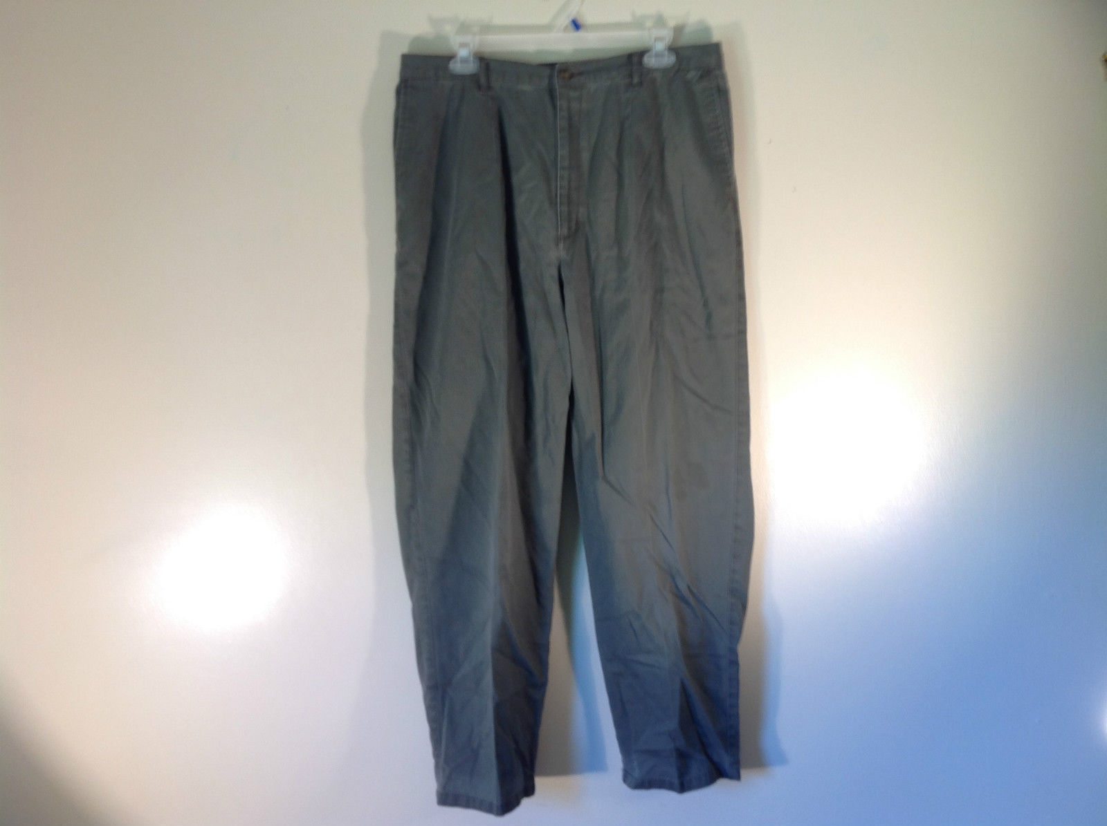 Gray Dressbarn Casual Pants 100 Percent Cotton Size 16 Stretchy Waist