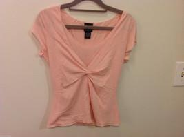 International Concepts Light Pink V-neck Short Sleeve Tank Top Blouse, Size 8