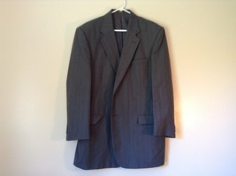 Gray Pin Striped Town Craft Suit Jacket No Size Tag Measurements Below
