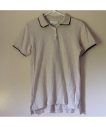 International Tour IZOD Club Beige with Black Accents Polo Shirt Size Small - $39.59