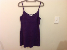 International Concepts Intimates Purple Plum 100% Cotton Night Gown Slip, Size M image 1