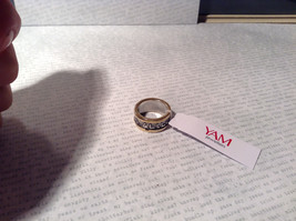 Gold Plated Bands Sterling Silver Size 7 Ring Judaica Inscription 2 Micron 14K image 4