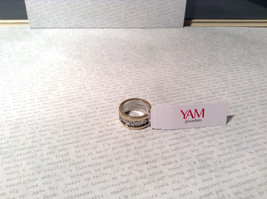 Gold Plated Bands Sterling Silver Size 7 Ring Judaica Inscription 2 Micron 14K image 6