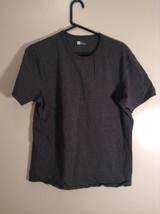 Gray Short Sleeve V Neck Top GAP Stretch Size XL