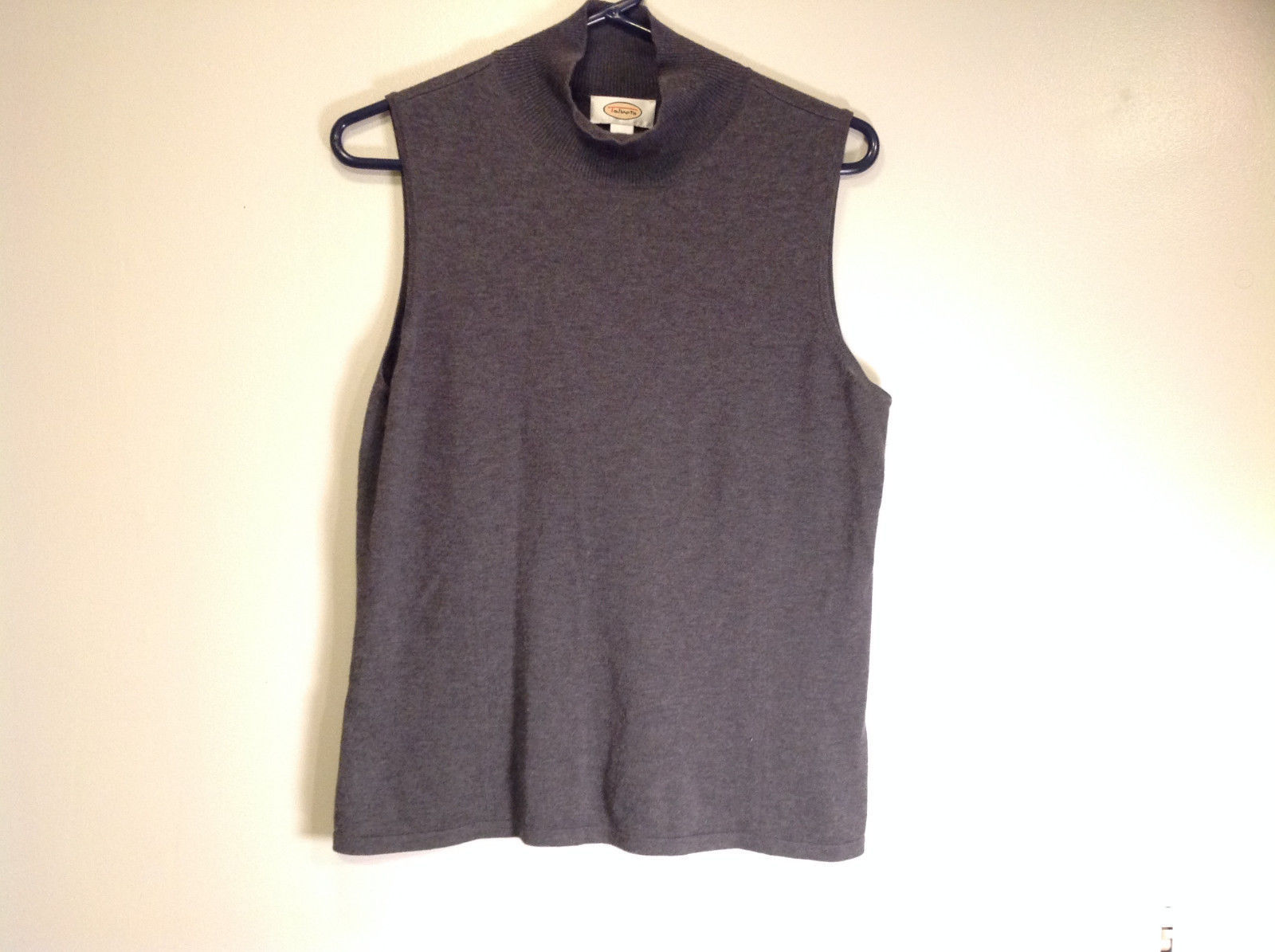 Gray Sleeveless Talbot Silk Blend Top Size Large Could be Worn as a Vest