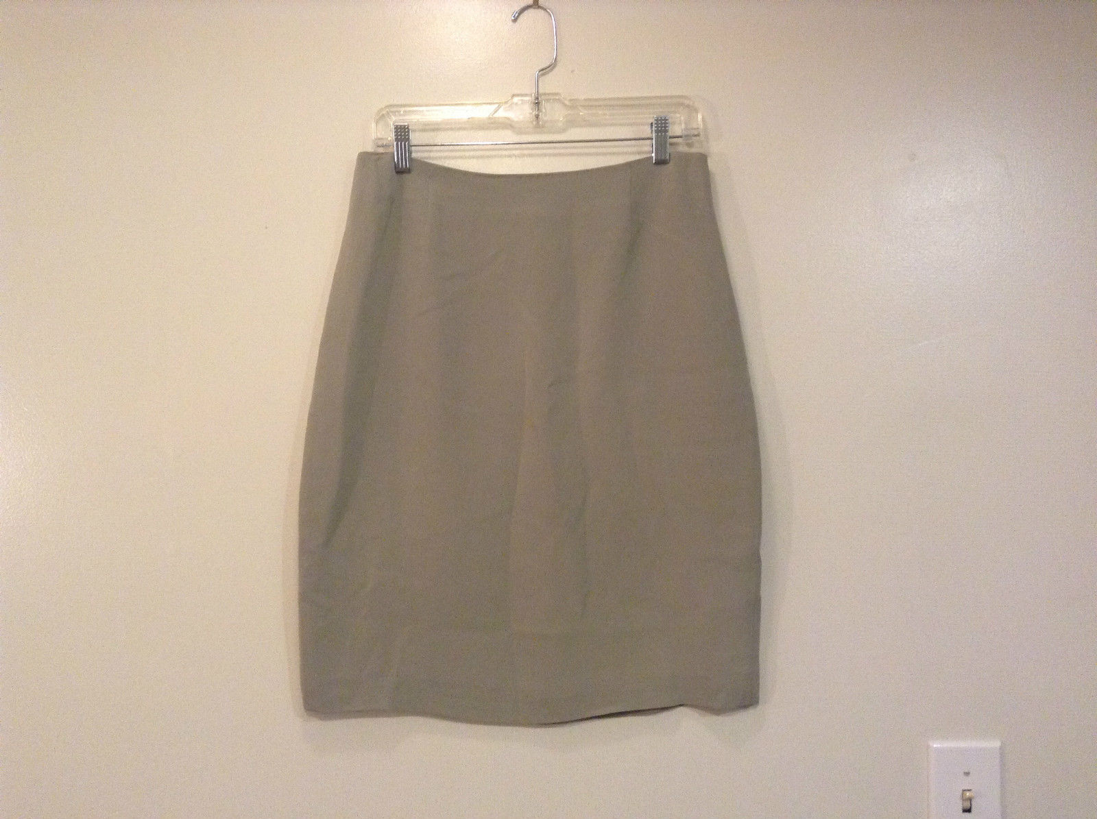 Gray with Light Green Hue Silk Valerie Stevens Skirt Fully Lined Size 10