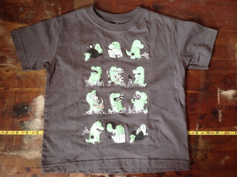 Gray Toddler T-Shirt with Green Dinosaurs from Threadless Kids Size 3T