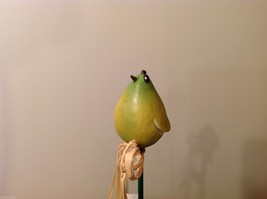 Home Grown Plant Pot Stick Pear  Bird  Play w your Food Sculpted image 5