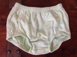 Green Flower Butterfly Patterned Briefs Elastic Waistband Carters Size 6 Months