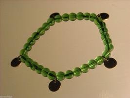 Green Glass Beaded Bracelets image 1