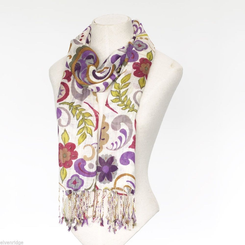 Jim Shore Lena Paisley Scarf in Soft Viscose