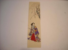 Japanese Print Woman Bookmark Cherry Blossoms