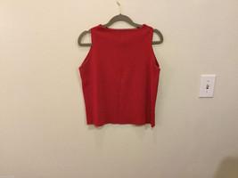 Joseph A. Scarlet Red Sleeveless Tank Top Blouse, Size L