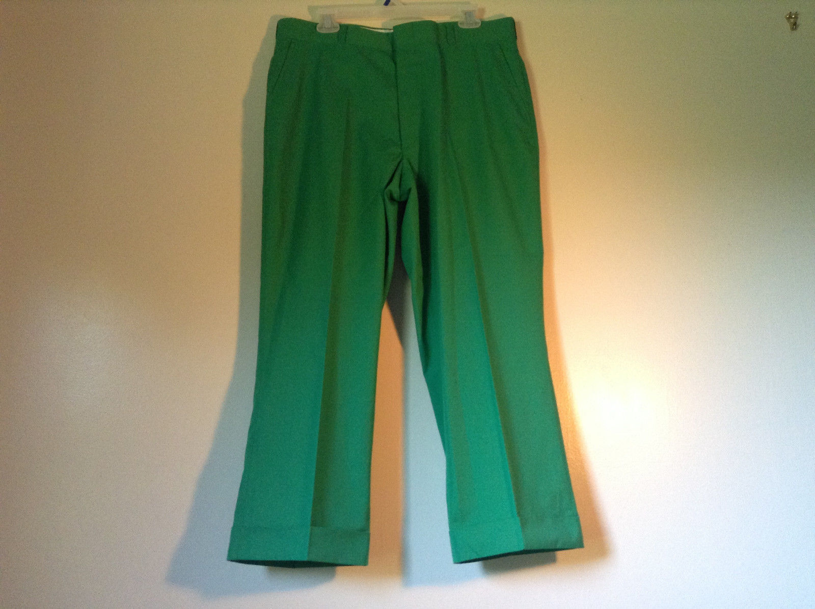 Green L L Bean Casual Pants Front and Back Pockets No Size Tag