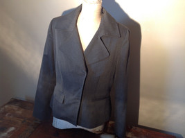 Josephine Chaus Gray Stripped Formal Jacket Blazer One Front Pocket Size 10