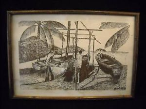 Joseph Butcher Framed Print signed