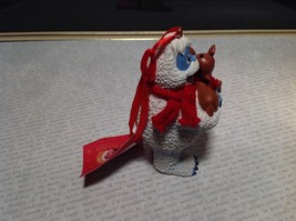 50th Anniversary Bumble with Rudolph Red Scarf Holiday Ornament Tag Attached image 3