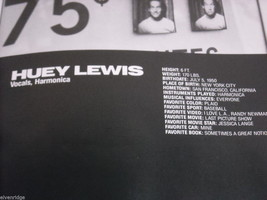 Huey Lewis and the News World Tour Concert Booklet Program 1986 image 9
