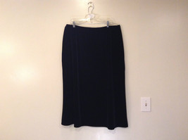 Kathie Lee Black Velvet Skirt Elastic Waist Straight No Slits Size 22W to 24W