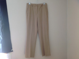 Josephine Chaus Dark Khaki Casual Pants 2 Pockets Button Zipper Closure Size 6
