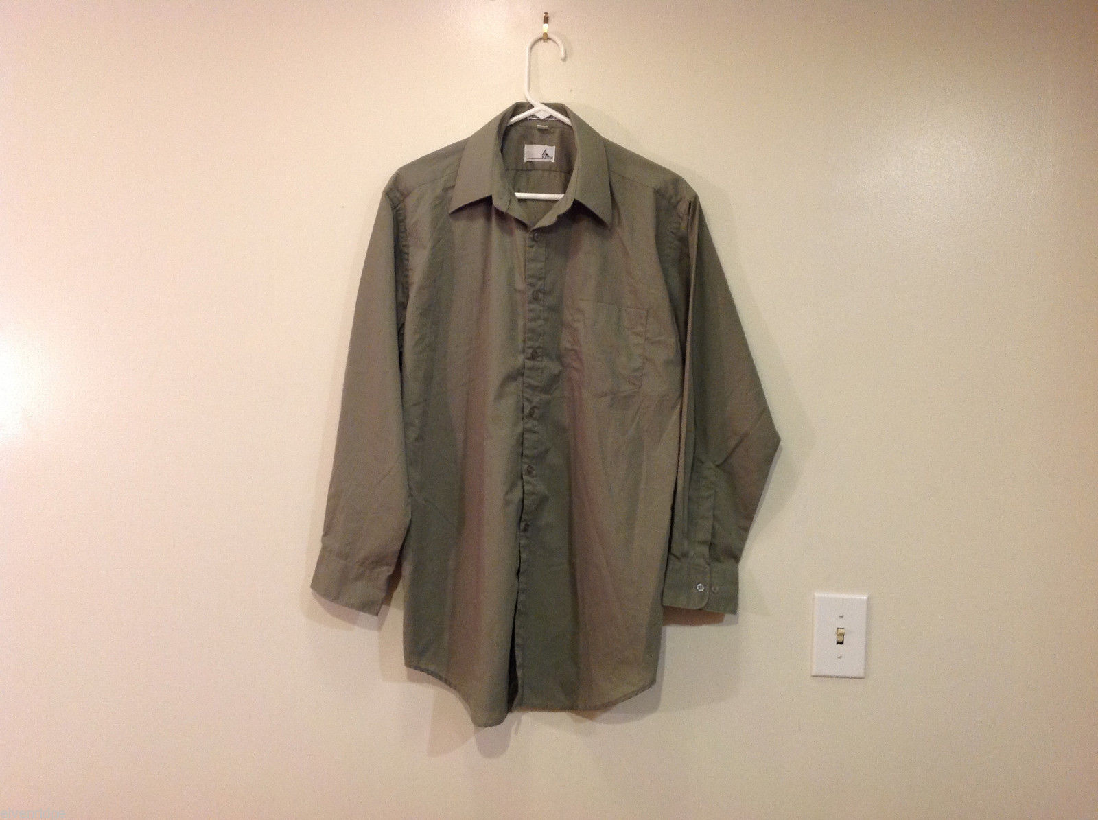 Ketch Khaki Long Sleeve Classic Shirt, Size 16 (32/33)