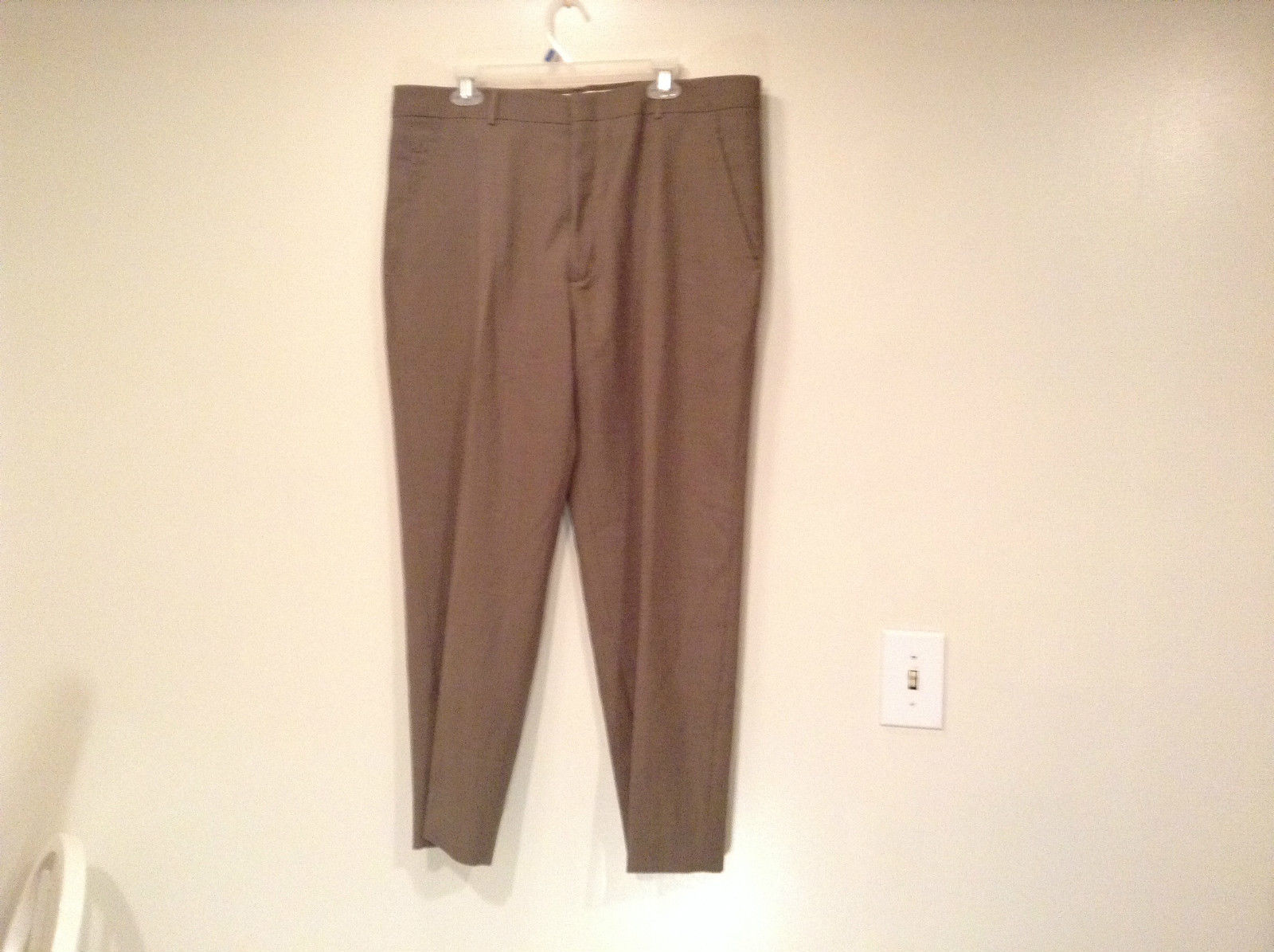 Kenneth Cole Reaction Size 36 by 30 Light Brown Pleated Front Dress Pants