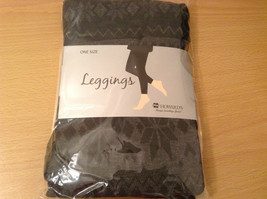 Howards Gray Snowflake Lined Leggings One Size Fits All New in Package image 9