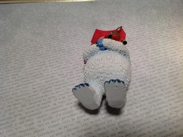 50th Anniversary Bumble with Rudolph Red Scarf Holiday Ornament Tag Attached image 5