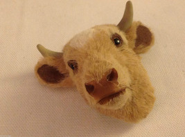 Guernsey chocolate milk bull   furry refrigerator magnet in 3D