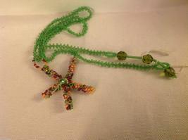 Guatemala women's hand beaded necklace fiesta colored starfish   Mayan