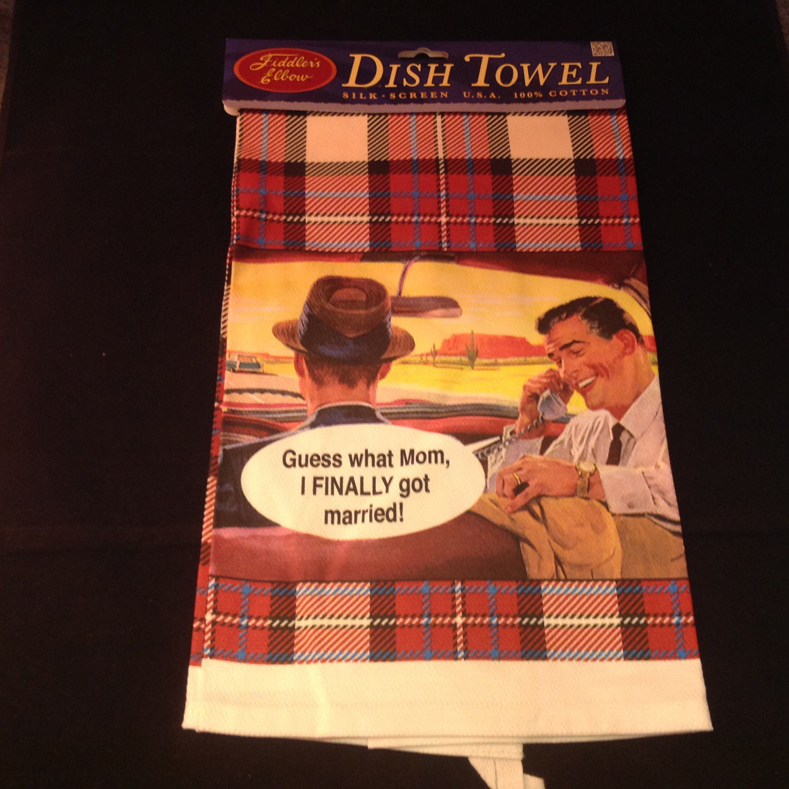 Guess What Mom I Finally Got Married Dish Towel by Fiddlers Elbow Lint Free