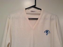IZOD White V Neck 100 Percent Acrylic Long Sleeve Sweater Size Large No Tags image 2