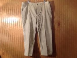 Haggar Black Label Tan 100 Percent Cotton Pants Flat Front  44 by 30