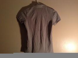 Gray Collared Short Sleeve Five Button Closure Polo Shirt Size XS  Uniqlo image 5