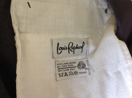 Gray Dress Pants by Louis Raphael Pure Laine Vierse All Pure Wool Size 31 image 9