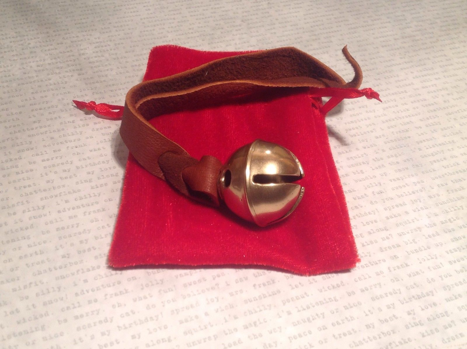 Kids know REAL Polar Bear Sleigh Bell Brass express from the elf workshop