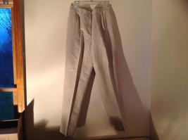Khaki Tweed Linen Pleated Dress Pants Belt Loops 3 Pockets Liz Claiborne... - $34.64