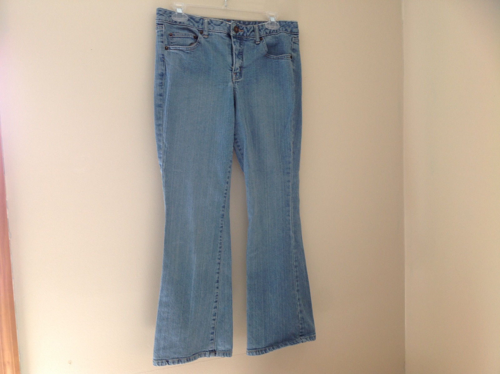 L A Blues Light Wash Denim Five Pocket Jeans Size 9M Petite