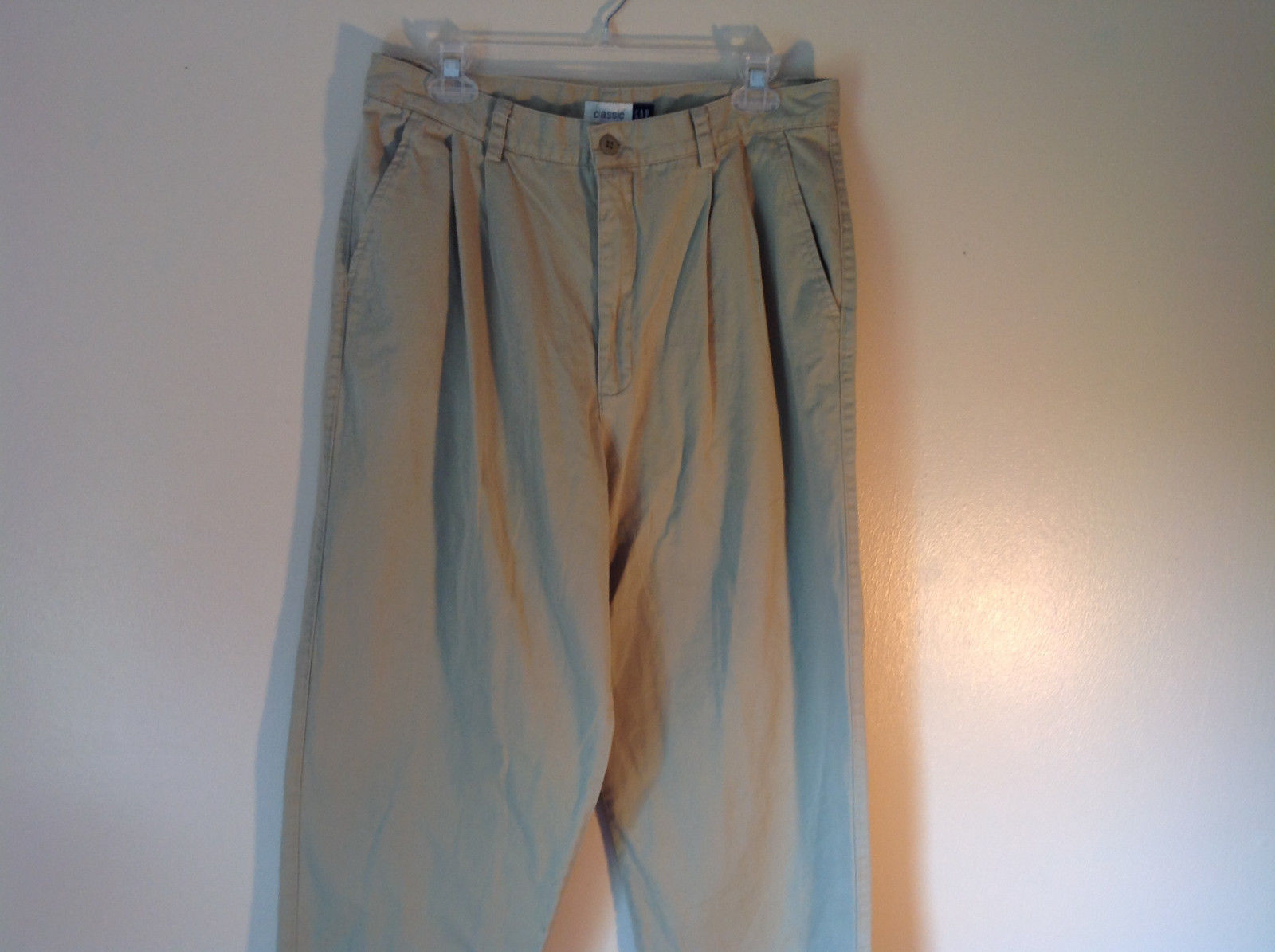 Khakis by Gap Classic Front and Back Pockets NO SIZE TAG Measurements Below