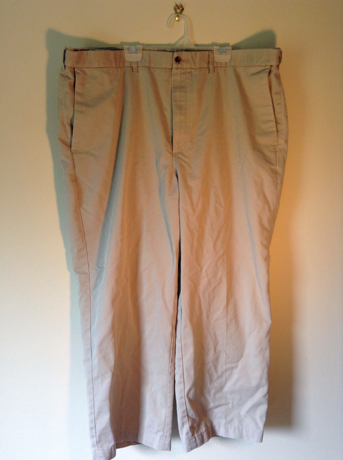 Haggar Khaki Casual Pants 2 Front Pockets Back Pockets Measurements Below