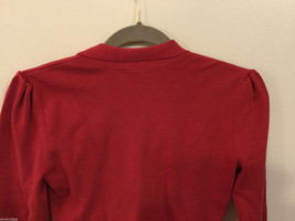 International Concepts Red Long Sleeves V-neck Blouse, bunched shoulders, Size S image 4