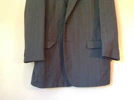 Gray Pin Striped Town Craft Suit Jacket No Size Tag Measurements Below image 2