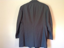 Gray Pin Striped Town Craft Suit Jacket No Size Tag Measurements Below image 7