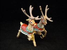 Hallmark Christmas ornament Donder Blitzen Santa Reindeer