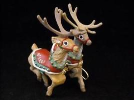 Hallmark Christmas ornament Prancer Vixen Santa Reindeer